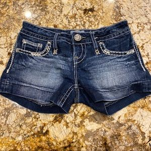 jean shorts with jewls